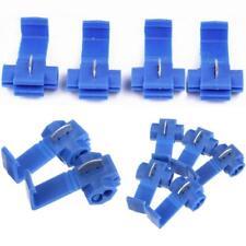 50Pcs Blue  Lock Wire Electrical Cable Connectors Quick Splice Terminals Crimp