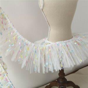 Wave Hemline Evening Dancing Dress Lace Trim Wedding Costume Craft DIY Ribbon 1M