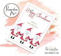 Hidden Message Card. Rude Christmas Gift. Christmas Scratch & Reveal Card.
