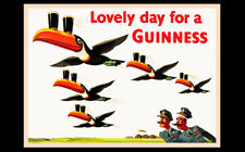 Guinness Irish Beer Flying Toucans Advertising Art Print Poster Pub Bar Ireland