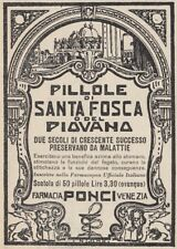 Z2557 Pillole del Piovana - Pubblicità d'epoca - 1930 old advertising