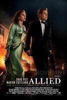 ALLIED MOVIE POSTER FILM A4 A3 ART PRINT CINEMA