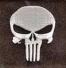 Da Stirare/ Cucire Patch Ricamato Distintivo Skull punisher The Quadrato