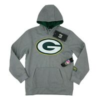 GREEN BAY PACKERS ZIPPERED POLYESTER HOODED SWEATSHIRT HOODIE YOUTH S M L XL NWT