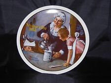 "1982 Rockwell Mothers Day Knowles Collectors Plate ""The Cooking Lesson"" # 16779E"