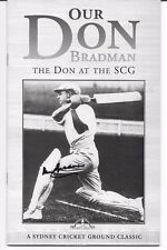 DON BRADMAN HAND SIGNED  PHOTOCOPIED BOOK COVER ~ 'OUR DON BRADMAN'