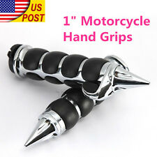 "1"" Spike Handle Bar Hand Grips For Yamaha Virago XV 250 500 535 700 750 920 1100"