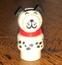 Fisher Price Vintage Little People SPOTTED WHITE & BLACK LUCKY DOG Dalmation