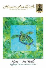 SEA TURTLE Ocean Quilt Pattern Hawaiian Honu Tropical Needle Turn Applique