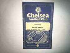 Chelsea v Luton Town 09/11/1957 in mixed condition