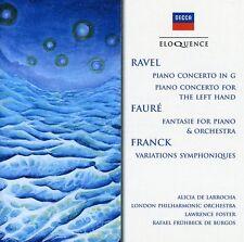 Ravel / De Larrocha - Ravel: Pno Cto in G Major / Pno Cto for Left Hand [New CD]