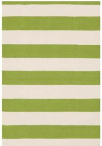 Outdoor/ Indoor Rug - Dash & Allbert - Green Stripe-  LAST ONE- REDUCED TO CLEAR