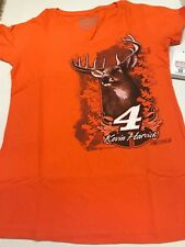 Nascar Kevin Harvick # 4 Chase 2015 Ladies Vneck S/S Orange Buck Tee Size Large
