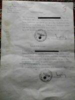 R.S.I.COMANDO GERMANICO TALIEDO-MILANO DENUNCIA A LADRO DI RAME 1944