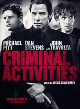 Criminal Activities (DVD,2016)Mint,Action/Crime,John Travolta,same day free ship