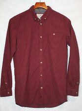 Brunswick Garments Mens Button Down Shirt Size XS Long Sleeve Dark Red with Dots
