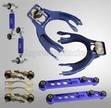 BLUE FRONT REAR CAMBER KIT REAR LOWER CONTROL ARM BUSHING KIT INTEGRA 94-01 DC2