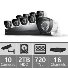 Samsung SDS-P5102 16 Channel DVR Security System with 10 Cameras, 2TB HDD Storag