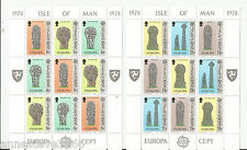 A LOVELY PAIR OF ISLE OF MAN MINI SHEETS MNH DEPICTING IOM CROSSES