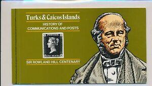 LO38277 Turks & Caicos Rowland Hill centenary good booklet MNH
