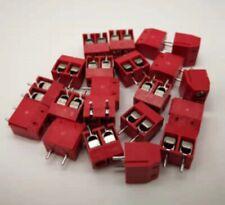 5pcs 2 Pin Terminal Block Connector PCB Vero Board KF301-2P smd 5mm pitch Red UK