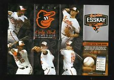 Baltimore Orioles--2014 Early Bird Pocket Schedule--Esskay--Machado-Jones-Davis