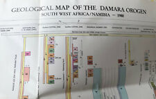 Geological Map of Namibia 1988 Two Sheets North /south