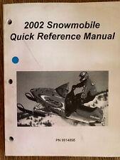 2002 Polaris Snowmobile Quick Reference Manual