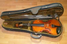 OLD  ANTIQUE  VIOLIN  3/4  READY  TO  PLAY  INCLUDES  BOW  &  CASE  KOREA