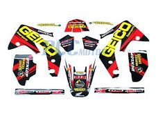 TEAM GEICO GRAPHICS DECAL STICKERS KIT HONDA CRF150R CRF LIQUID COOLED U DE54