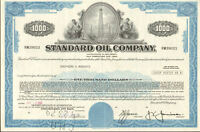 STANDARD OIL COMPANY > well stock certificate $1,000 bond certificate share