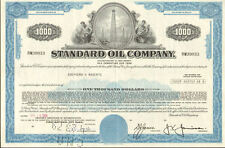 STANDARD OIL COMPANY > well stock certificate $1,000 bond certificate share