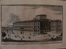 M Roma acquaforte originale 1700 Specchi Palazzo Barberini Torneo cavalleresco