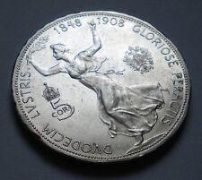Austria-Hungary Empire 5 Corona 1908 Reign Jubilee Silver Coin KM#2809 **GEM UNC