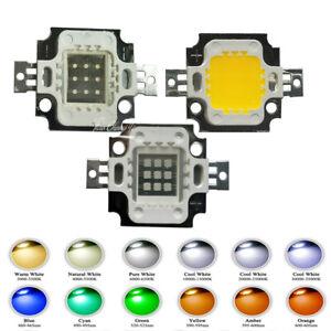 LED Chip 10W 900mA 12V white Red Green Blue UV Light Beads For 10W Floodlight