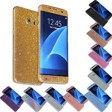 Brillante Purpurina rígido protector PIEL Funda para Samsung Galaxy S7/S7