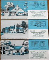 North Bergen, NJ 1949 Advertising Blotters-SET OF THREE w/Home Plan - Lumber Co.