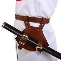 Men's Medieval Sword Frog Holster with Belt Rapier Scabbard Holder Buckle Fasten