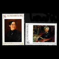 Luxembourg 1996 - Art Exhibition by Mihaly Munkacsy Paintings - Sc 942/3 MNH