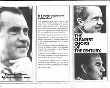 1972 Nixon Re-Election Brochure - The Clearest Choice of the Century