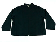 Allyson Whitmore Women's Jacket Full Zip Black Polyester Long Sleeve Size 1X