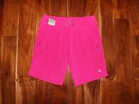 NWT Womens FREE COUNTRY Pink Active Board Bermuda Shorts M Medium (8-10)
