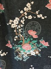 4 PC Custom Asian Oriental Medallion Cherry Blossom Blackout Curtains Valances