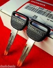 2 Genuine OEM Honda Master Key Blank Civic CR-V CRX del Sol Prelude Odyssey
