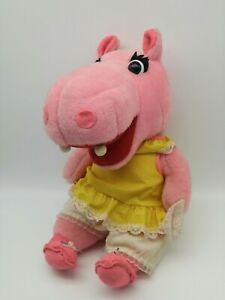 Rushton Company Henrietta Hippo Vintage Stuffed Pink Plush- Rare Good Condition