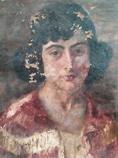 Quadro antico epoca 1800 olio su tela ritratto 60x50 cm XIX°sec. provenien. Roma