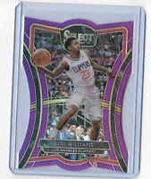 2019-20 Panini Select basketball Lou Williams Die-Cut Purple 47/99 La Clippers