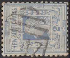 VERY RARE Rated RR OAKLANDS 1547 NSW Barred Numeral postmark 2d Queen Victoria