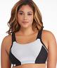 Glamorise Woman's Black/Grey  Control Wire Free Sports Bra, Size 42DD NWOT