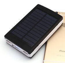 Power bank solar cargador bateria externa 12000mAh con luz 20 led smartphone